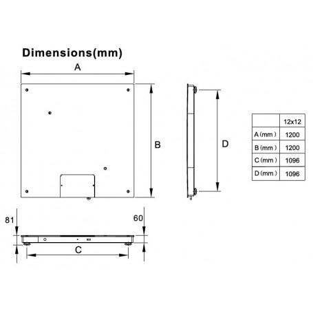 Balance au sol 1200 x 1200 mm jusqu'à 3T