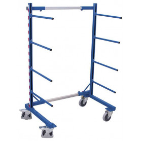 223~Rayonnage cantilever mobile simple face