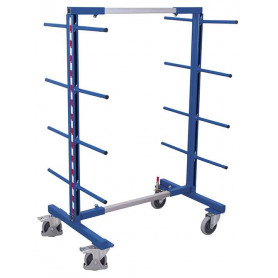 224~Rayonnage cantilever mobile double face