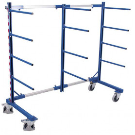 225~Rayonnage cantilever mobile simple face