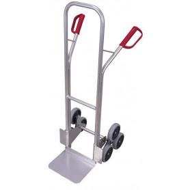 329~Diable escaliers aluminium avec 2 roues en étoiles à 3 roulettes