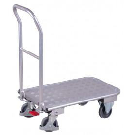 39~Chariot en aluminium avec dossier repliable
