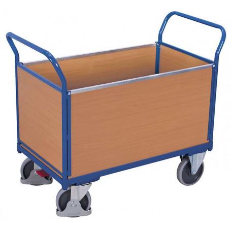 55~Chariot 4 panneaux bois