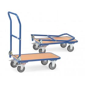 Chariots à dossier rabattable en acier