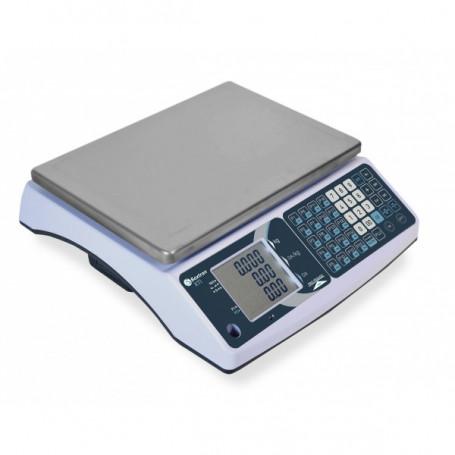 Balance poids-prix bi-echelon , portée max 30 kg , précision 1 g à 5 g , homologuée