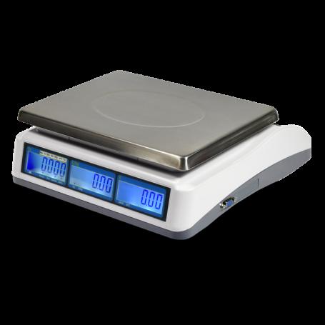 Balance poids-prix , portée max 30 kg , précision 1 g à 5 g , homologuée