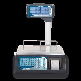 Balance poids-prix avec ticket , portée max 30 kg , précision 5 g / 10 g, homologuée