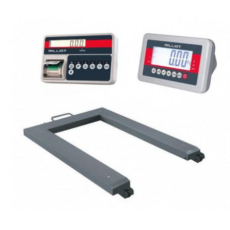 Pèse-palette / Barres peseuse , portée max 3 T , précision 200 g à 1 kg, homologable