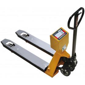 Transpalette peseur , portée max 2000 kg , précision 500 g à 1 kg