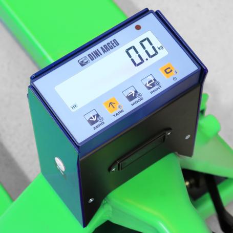 Transpalette peseur , portée max 2000 kg , précision 1 kg