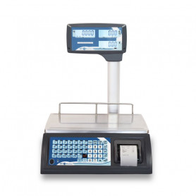Balance poids prix avec ticket , portée max 30 kg , précision 5 g / 10 g, homologuée