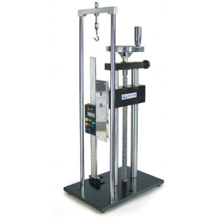 Banc d'essai manuel pour la mesure de force précise, avec mesure de longueur