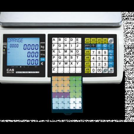 Balance poids-prix CAS CT100 à tickets, fiscalité 2018