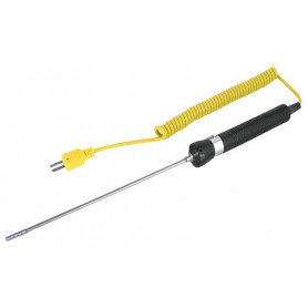REED R2940 Sonde thermocouple pour l'air/gaz, Type K, -58 à 1 652F (-50 à 900C)