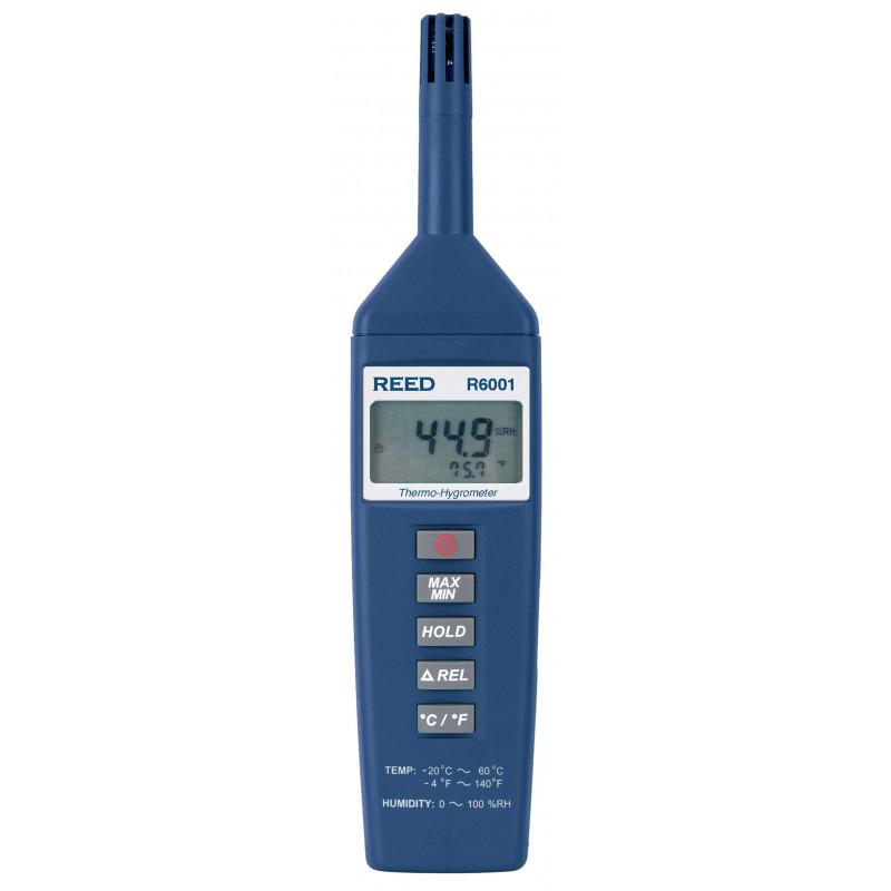 REED R6001 Thermo-hygromètre, -20 à 60C (-4 à 140F), HR de 10 à 100%