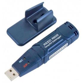 REED R6020 Enregistreur de données USB de temp. et d'humidité, -40-70C (-40-158F), 0 à 100%HR