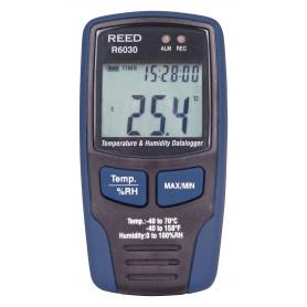 REED R6030 Enregistreur de données de température et d'humidité,  -40-158F (-40-70C) et 0-100%HR