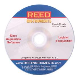 REED SW-U801-WIN Logiciel d'acquisition de données pour Windows® XP et 7