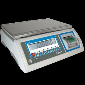 Balance poids seule homologuée en métrologie légale, portée max. de 6 à 30 kg avec imprimante incorporée