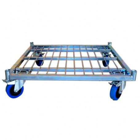 Roll conteneur avec porte de sécurité à 4 côtés, charge 550 kg