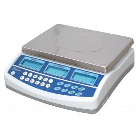 Balance compteuse compacte, portée de 3 kg à 30 kg, précision de 0.05 g à 0.5 g
