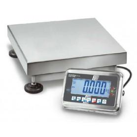 Balance compacte inox, portée max. de 50 kg à 300 kg, précision de 5 g à 100 g