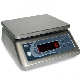 Balance compacte inox, portée de 3 kg à 30 kg, précision de 0.2 g à 2 g