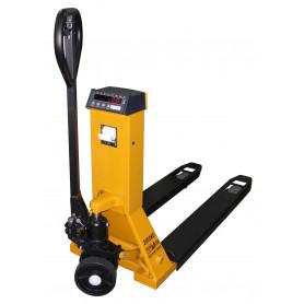 Transpalette peseur, portée 500 kg à 2 t., précision 0.2 à 1 kg
