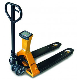 Transpalette peseur, portée max. de 2 t, précision de 1 kg