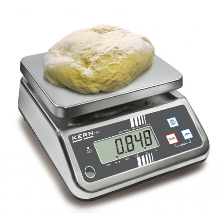Balance compacte inox, portée max. de 3 kg à 25 kg, précision de 0.5 g à 10 g