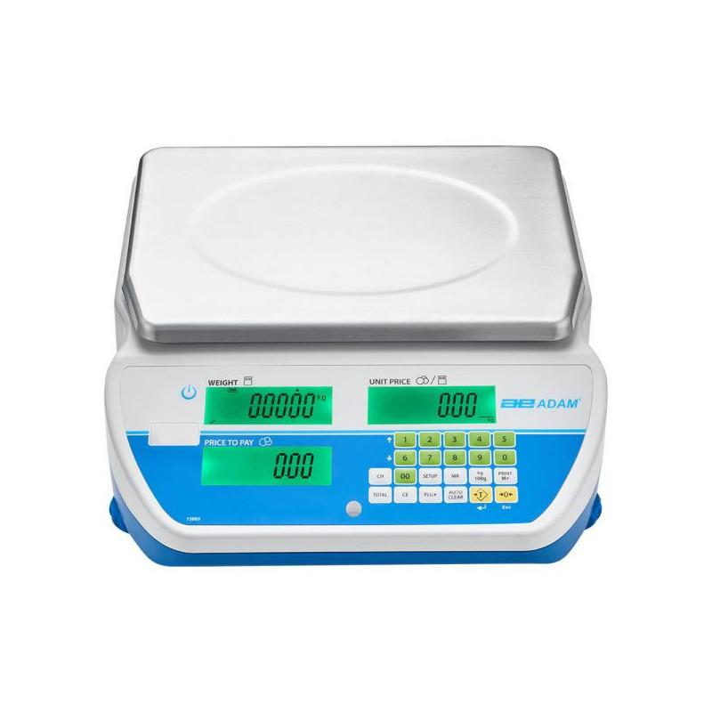 Balance poids prix, homologuée bi-échelon, portée max: 1,5/3 kg à 15/30 kg