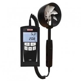 Thermo-anémomètre à hélice avec sonde intégrée, vitesse jusqu'à 35 m/s