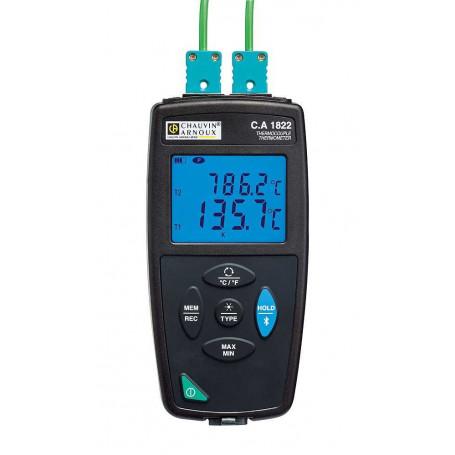 Thermomètre à 2 voies thermocouple, mesure de -210° à +1767° C
