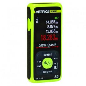 Télémètre double laser, mesure de 0.05 à 50 m