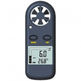 Thermo-anémomètre digital de poche, 0.2 à 25 m/s, précision 5%