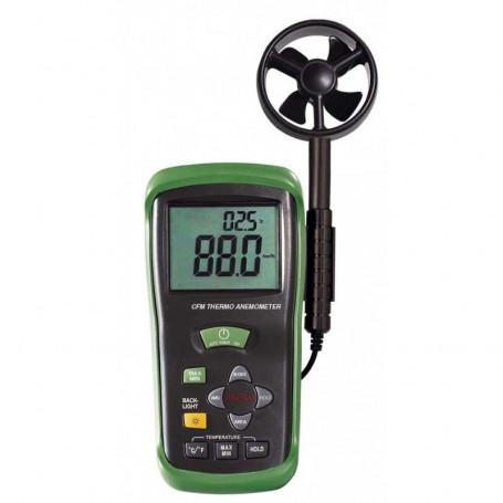 Thermo-anémomètre à ailettes, mesure de 0.4 à 45 m/s, précision 3%