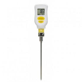 Thermomètre type K avec sonde droite étanche IP65