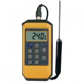 Thermomètre à sonde étanche IP65, mesure de -50° à +300°C