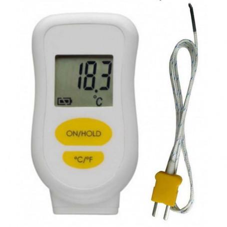 Thermomètre étanche IP65 avec sonde filaire type K