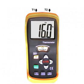 Thermomètre avec 2 canaux et 2 sondes filaires type K