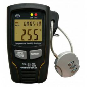Enregistreur thermo-hygromètre autonome, USB avec cadenas de sécurité