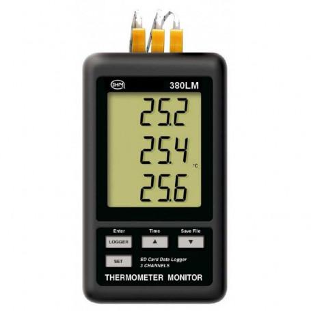 Enregistreur thermomètre 3 canaux type K avec 1 sonde filaire type K