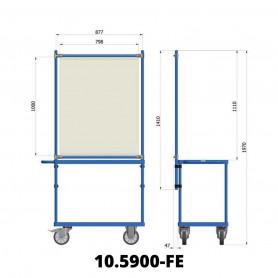 Panneau de protection coronavirus pour chariot à plateaux