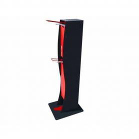 Distributeur de gel hydroalcoolique sur pied pour personne à mobilité réduite