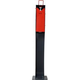 Distributeur de gel hydroalcoolique sans contact, commande au coude