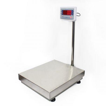 Pèse-colis 500x600 mm, portée de 150 à 600 kg, précision de 10g à 50g