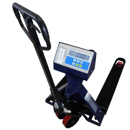Transpalette peseur PTT avec imprimante, portée 2T et précision 0,5 kg